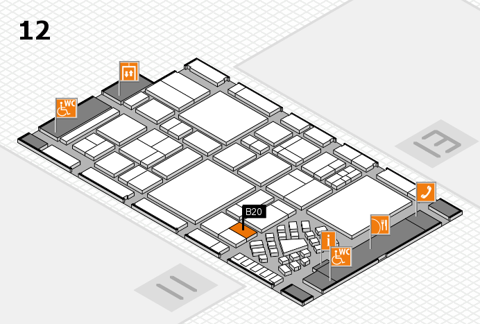 EuroShop 2017 hall map (Hall 12): stand B20