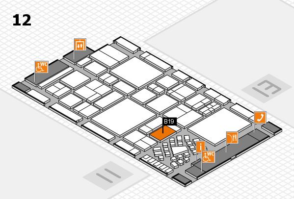 EuroShop 2017 hall map (Hall 12): stand B19
