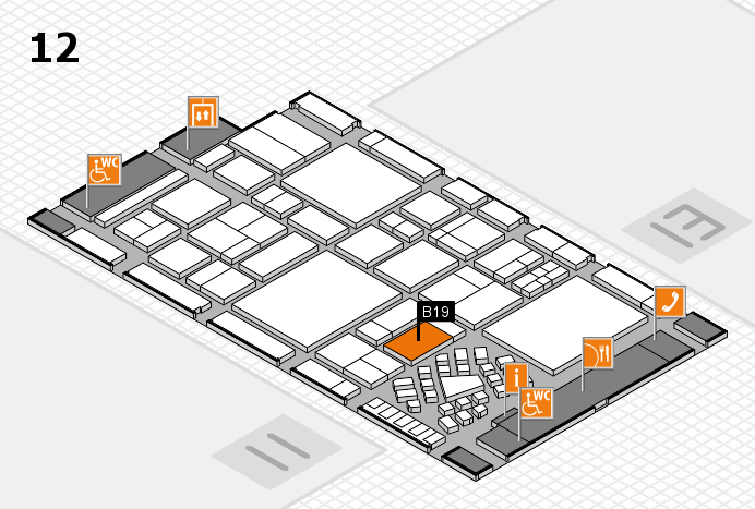 EuroShop 2017 hall map (Hall 12): stand B19