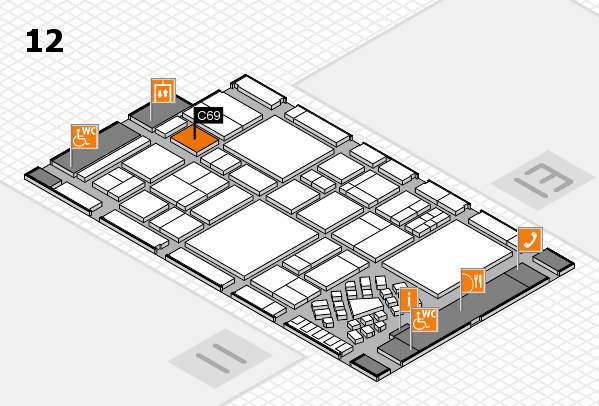 EuroShop 2017 hall map (Hall 12): stand C69