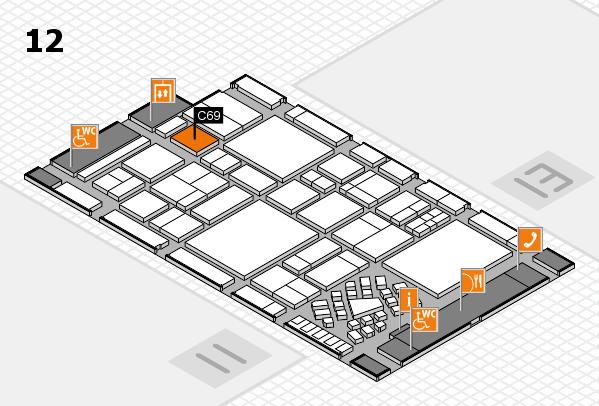 EuroShop 2017 hall map (Hall 12): stand C69