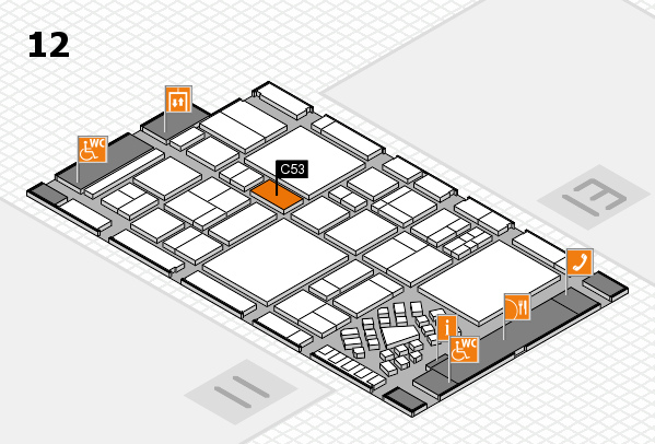 EuroShop 2017 hall map (Hall 12): stand C53