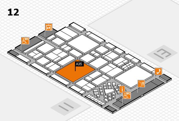 EuroShop 2017 hall map (Hall 12): stand A35