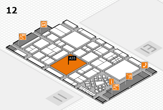 EuroShop 2017 hall map (Hall 12): stand A35