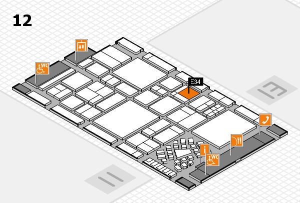 EuroShop 2017 hall map (Hall 12): stand E34