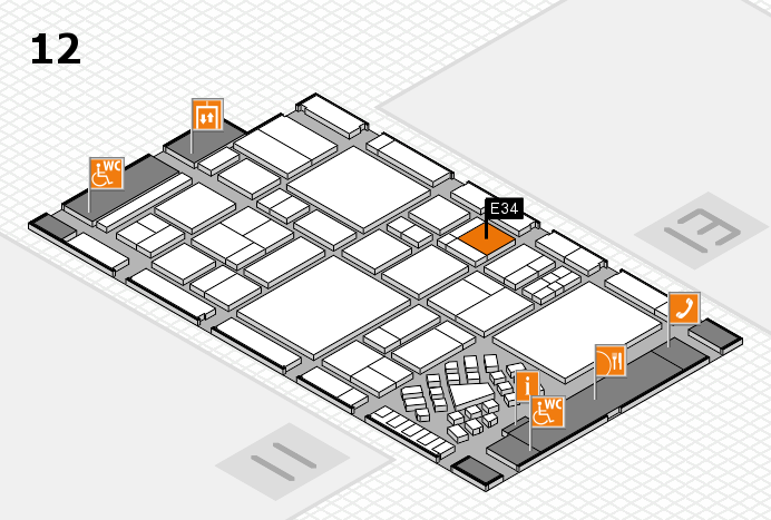 EuroShop 2017 hall map (Hall 12): stand E34