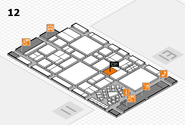 EuroShop 2017 hall map (Hall 12): stand C31