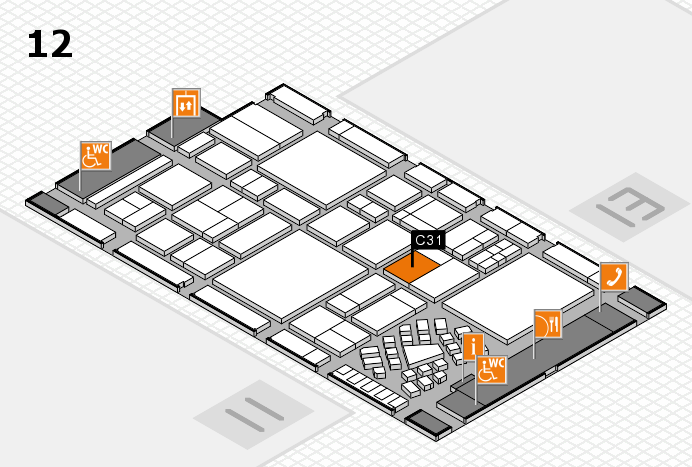 EuroShop 2017 hall map (Hall 12): stand C31