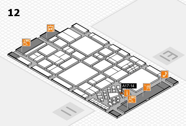 EuroShop 2017 hall map (Hall 12): stand A17-14