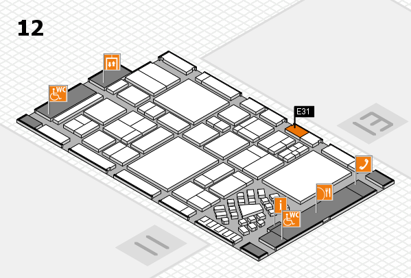 EuroShop 2017 hall map (Hall 12): stand E31