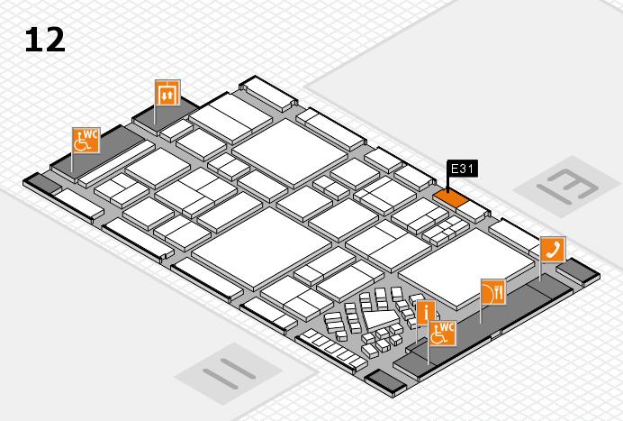EuroShop 2017 hall map (Hall 12): stand E31