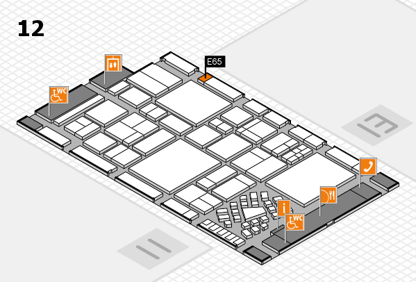 EuroShop 2017 hall map (Hall 12): stand E65