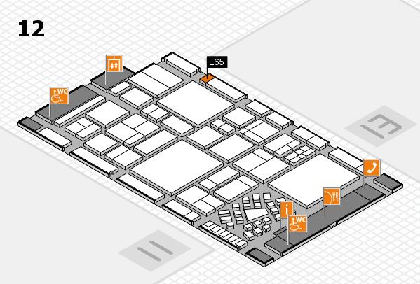 EuroShop 2017 hall map (Hall 12): stand E65
