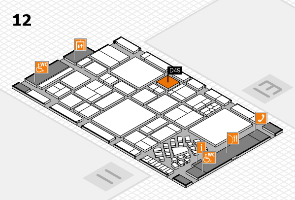 EuroShop 2017 hall map (Hall 12): stand D49