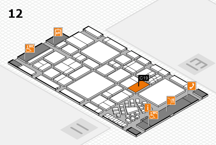 EuroShop 2017 hall map (Hall 12): stand C19