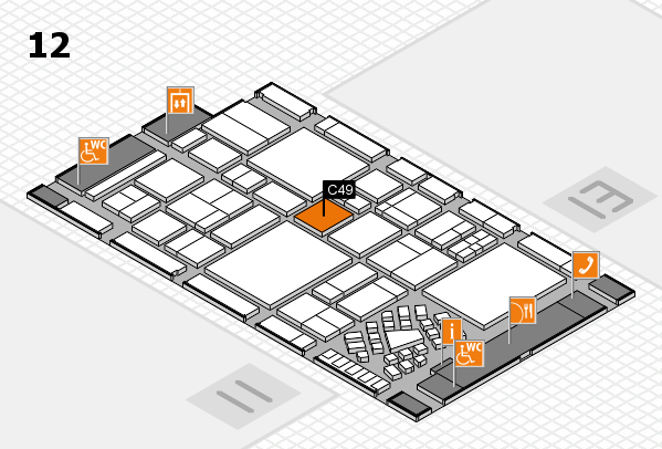 EuroShop 2017 hall map (Hall 12): stand C49