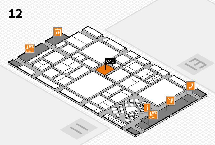 EuroShop 2017 hall map (Hall 12): stand C49