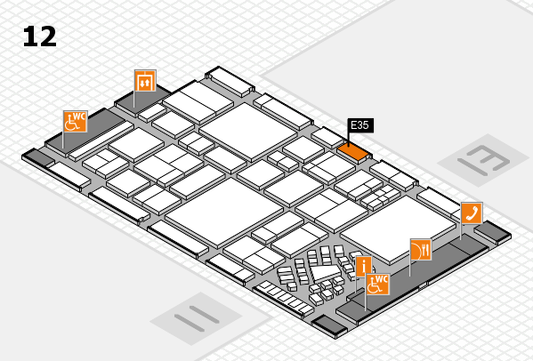 EuroShop 2017 Hallenplan (Halle 12): Stand E35