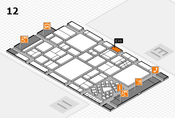 EuroShop 2017 hall map (Hall 12): stand E35