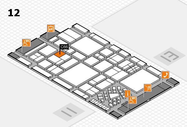 EuroShop 2017 hall map (Hall 12): stand C66