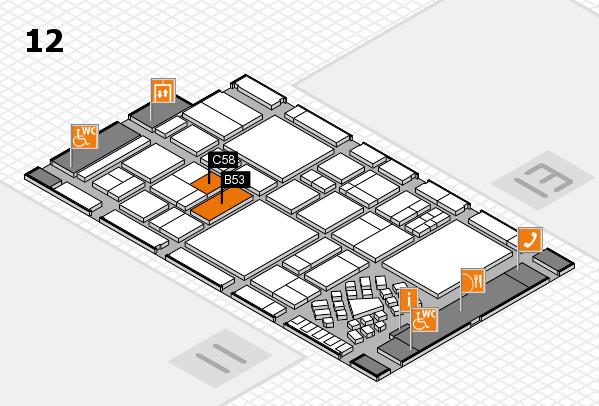EuroShop 2017 Hallenplan (Halle 12): Stand B53, Stand C58