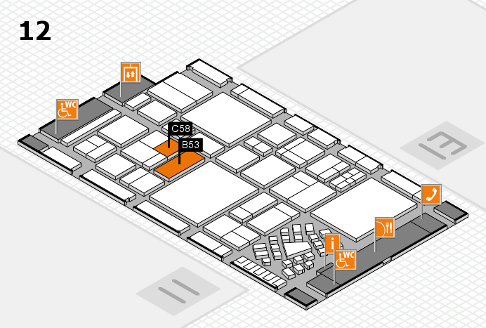 EuroShop 2017 hall map (Hall 12): stand B53, stand C58