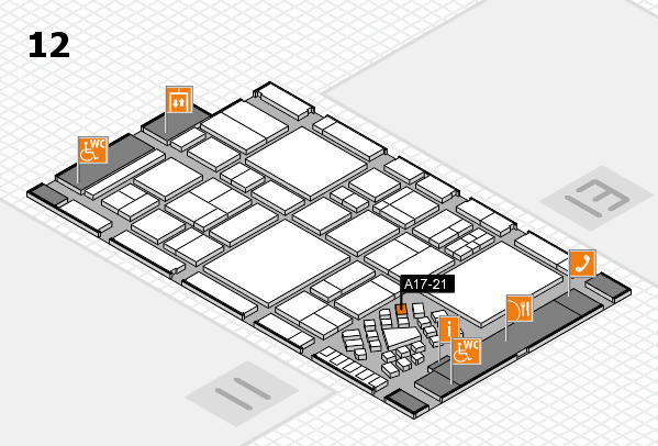 EuroShop 2017 hall map (Hall 12): stand A17-21