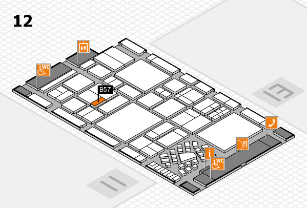 EuroShop 2017 hall map (Hall 12): stand B57
