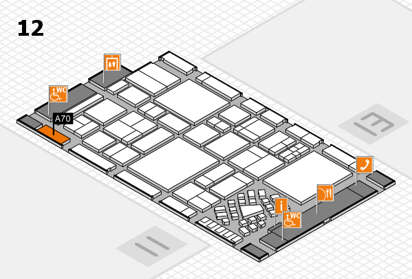 EuroShop 2017 hall map (Hall 12): stand A70