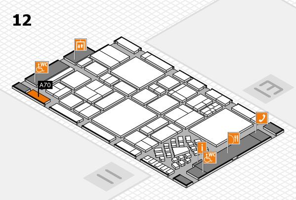 EuroShop 2017 Hallenplan (Halle 12): Stand A70