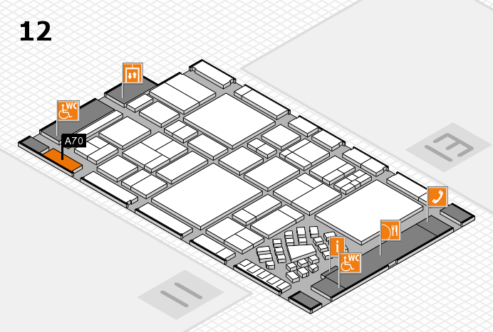 EuroShop 2017 hall map (Hall 12): stand A70