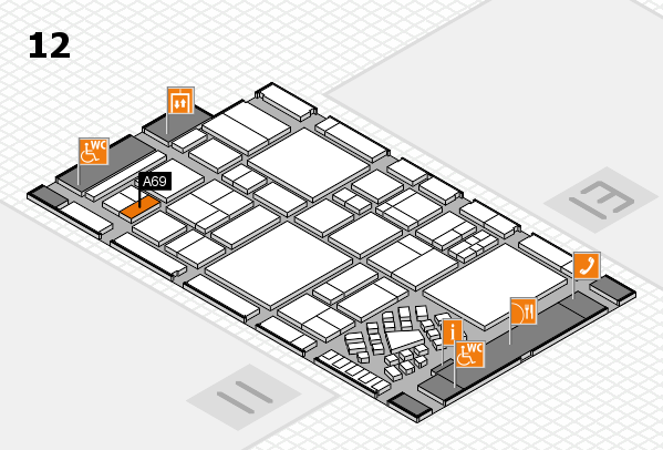 EuroShop 2017 hall map (Hall 12): stand A69