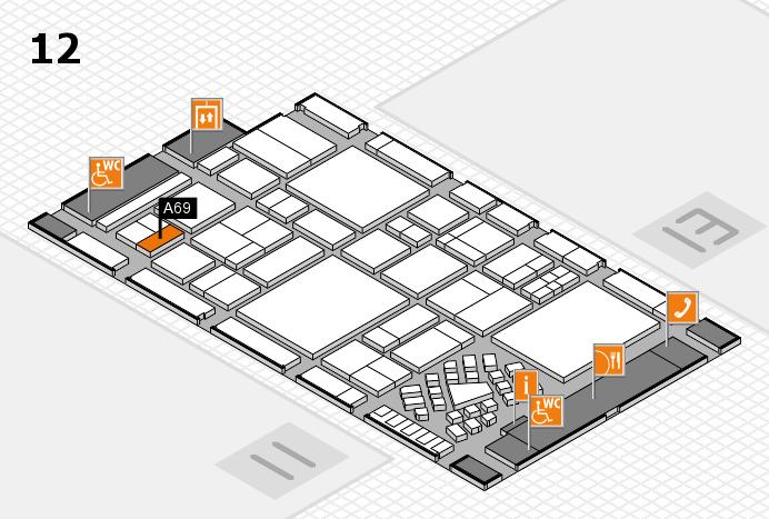 EuroShop 2017 Hallenplan (Halle 12): Stand A69