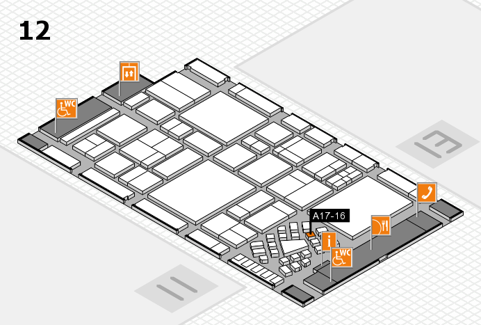 EuroShop 2017 hall map (Hall 12): stand A17-16