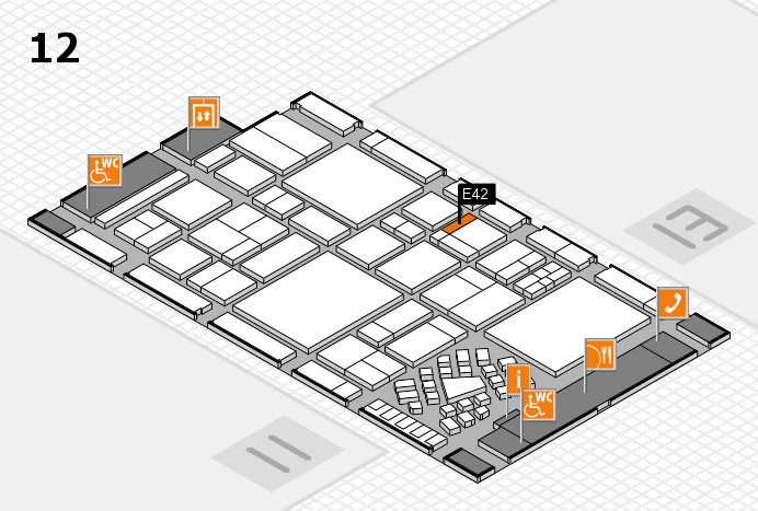 EuroShop 2017 hall map (Hall 12): stand E42