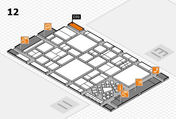 EuroShop 2017 hall map (Hall 12): stand E69