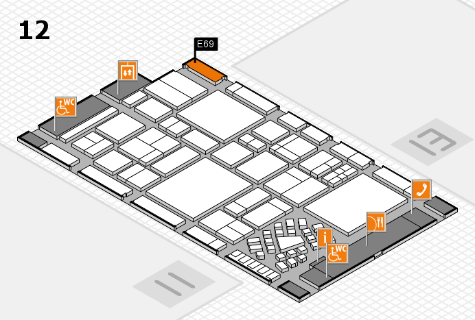 EuroShop 2017 hall map (Hall 12): stand E69