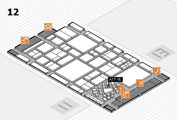 EuroShop 2017 hall map (Hall 12): stand A17-18