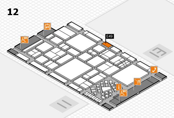 EuroShop 2017 hall map (Hall 12): stand E49