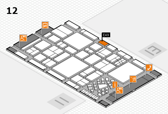 EuroShop 2017 hall map (Hall 12): stand E49