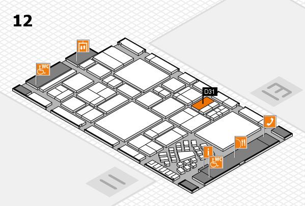 EuroShop 2017 hall map (Hall 12): stand D31