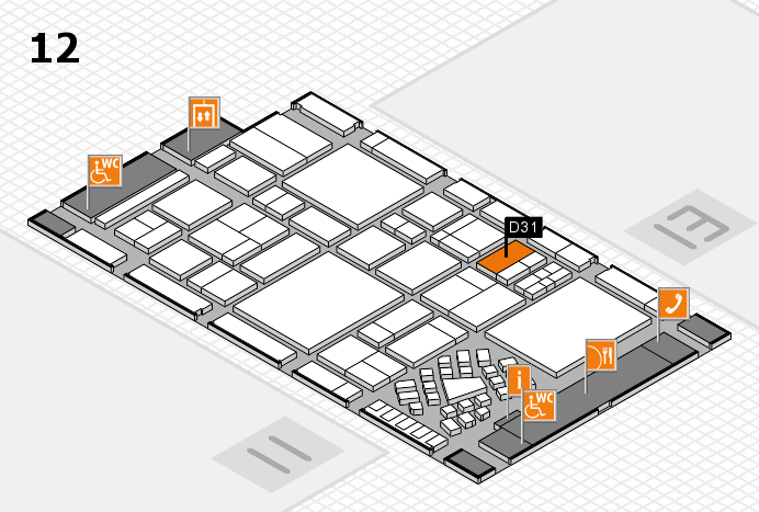 EuroShop 2017 hall map (Hall 12): stand D31