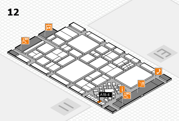 EuroShop 2017 hall map (Hall 12): stand A18-4