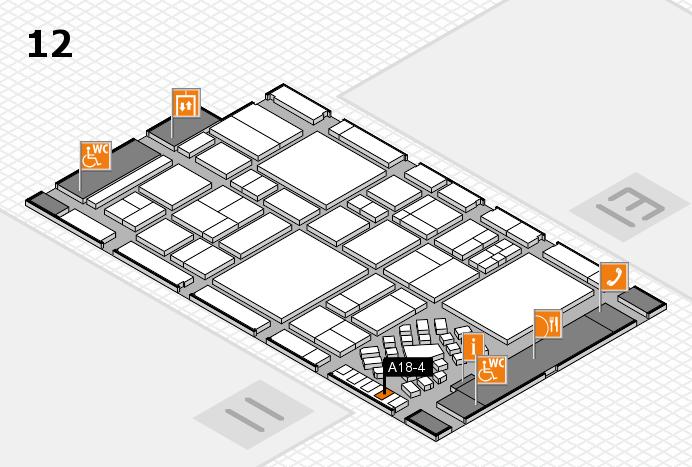 EuroShop 2017 hall map (Hall 12): stand A18-4
