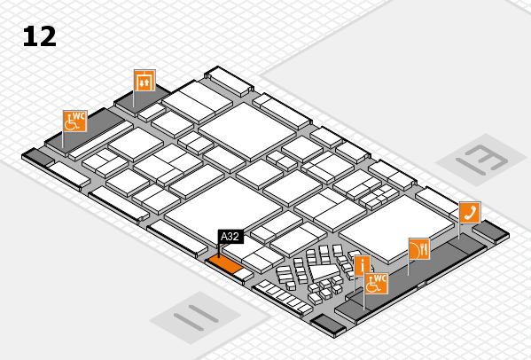 EuroShop 2017 hall map (Hall 12): stand A32