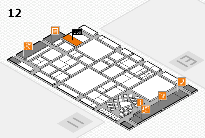 EuroShop 2017 hall map (Hall 12): stand D69