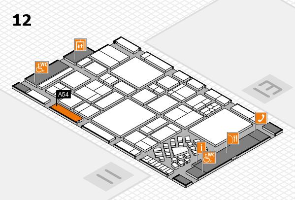 EuroShop 2017 hall map (Hall 12): stand A54