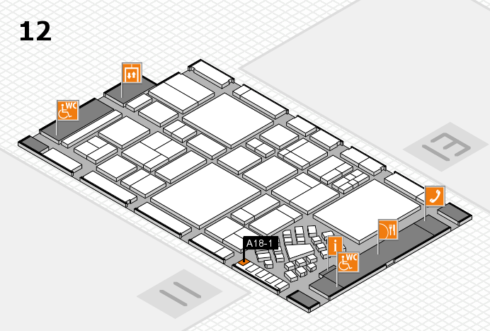 EuroShop 2017 hall map (Hall 12): stand A18-1
