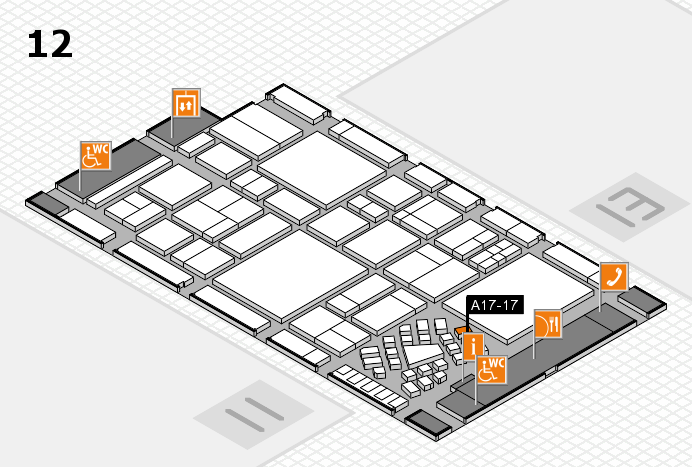 EuroShop 2017 hall map (Hall 12): stand A17-17