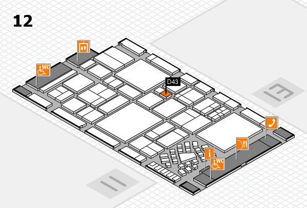 EuroShop 2017 hall map (Hall 12): stand D43